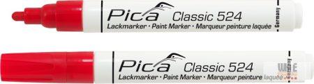Pica Classic 524 festékes jelölő, piros, 10 darabos csomagban