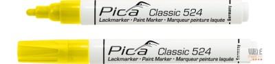 Pica Classic 524 festékes jelölő, sárga, 10 darabos csomagban