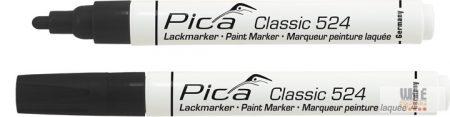 Pica Classic 524 festékes jelölő, fekete, 10 darabos csomagban