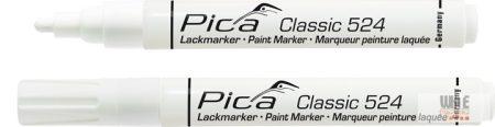Pica Classic 524 festékes jelölő, fehér, 10 darabos csomagban